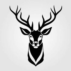 Deer icon isolated on white background. Vector illustration - - Deer icon isolated on white background. Vector illustration décalque Deer icon isolated on white background. Fantasy Background, Plains Background, Gold Background, Background Vintage, Background Patterns, Hirsch Silhouette, Silhouette Art, Deer Head Silhouette, Deer Stencil