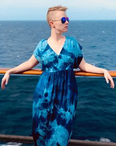 It's a perfect day to swan about in my Rayon twill hand-dyed with indigo by me. Kaftan Pattern, A Perfect Day, Swan, Indigo, Cover Up, Patterns, Instagram, Dresses, Fashion