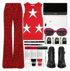 """Max Mara Star Shirt"" by juliehalloran ❤ liked on Polyvore featuring MaxMara, Roberto Cavalli, Balmain, Yves Saint Laurent, AllSaints, Polaroid, Lord & Berry and NARS Cosmetics"