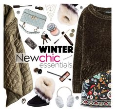 """Newchic Winter"" by ladysnape ❤ liked on Polyvore featuring Hourglass Cosmetics, Ettika, Valentino, Yves Salomon, Kate Spade, Bobbi Brown Cosmetics, Lancôme, Deborah Lippmann, BOBBY and Chantecaille"