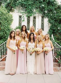 pink and nude bridesmaid dresses- going to be in mine!