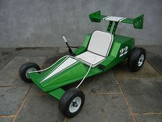 Custom Wooden Go Kart / Wooden Go Cart Indy Style Soap Box Car Soapbox Derby