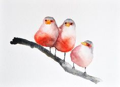 original watercolor painting red birds bird art summer birds abstract birds inch is part of Watercolor paintings - ORIGINAL Watercolor painting, Red Birds, Bird Art, Summer Birds, Abstract Birds inch Watercolorart Summer Birds Painting, Colorful Art, Art Painting, Drawings, Painting, Original Watercolor Painting, Watercolor Bird, Original Watercolors, Bird Art