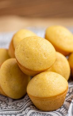 Honey Corn Muffins. These are my absolute favorite go-to corn muffin recipe. They stay moist for days and are loaded with lots of sweet honey flavor. #meatlessmondaynight #ad