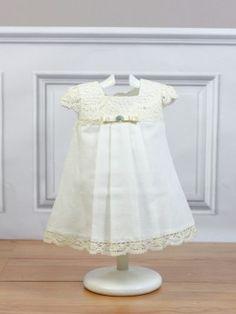 vestido crudo beige ceremonia bebe paz rodriguez bebe niña