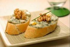 Receta de Montaditos de queso azul