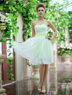 Strapless Sash Bow Lace Up Organza Bridesmaid Dress - Power Day Sale Organza Bridesmaid Dress, Bridesmaid Dress Colors, Wedding Bridesmaid Dresses, Wedding Party Dresses, Wedding Shoes, Club Dresses, Prom Dresses, Mini Dresses, Evening Dresses