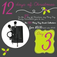 On the 3rd day of Christmas my Mary Kay Beauty Consultant gave to me . . . Our brand new brush set comes in a fabulous make-up bag! Call or Text ANYTIME: (832) 278-5133 eaboyd@marykay.com http://www.marykay.com/eaboyd www.facebook.com/eaboyd06