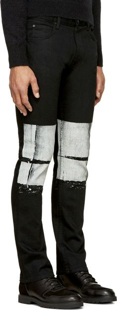 Helmut Lang: Black Painted Skinny Jeans | SSENSE Zippertravel.com Digital Edition