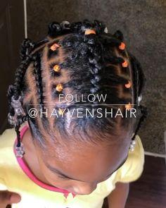 Little Girls Ponytail Hairstyles, Black Baby Girl Hairstyles, Little Girl Ponytails, Toddler Braided Hairstyles, Natural Braided Hairstyles, Natural Hair Braids, Natural Hairstyles For Kids, Braids For Short Hair, Girl Short Hair