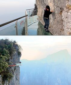 Glass Skywalk Trail or Heaven's Gate in the Tianmen Mountain National Forest Park in China. Nope, No, No Way, Not Ever going here! Tianmen Mountain, Bucket List Before I Die, Forest Park, By Train, Future Travel, Hiking Trails, Dream Vacations, Places To See, Travel Destinations