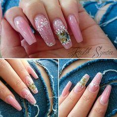Elegant nails Golden Nails - Medium pink,Alpine Snow