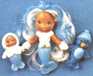 Sea Wees Icy-Gals Frosty, Baby Flo and Penny (Kenner 1983)