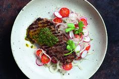 Recipe: Argentinian-Style Steak with Onion Radish Salad (249 calories per portion) from Hairy Dieters' Eat for Life