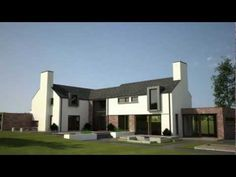 Short Flythrough of a contemporary rural dwelling. Architecture 101, Modern Farmhouse Exterior, Country Houses, New Builds, House Design, Contemporary, Mansions, House Styles, Building