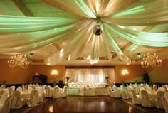 tulle idea for reception hall