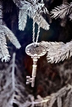 Don't have a chimney? Leave out a fancy, magic key just for Santa. ;)