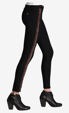 Rag & Bone Black And Copper Pant | VAUNTE