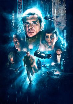 """Blade Runner"" alternative movie poster by Ignacio RC #bladerunner #scifi #alternative #movie #poster #posterdesign #harrisonford #blade #runner #cartel #seanyoung"