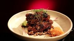 MKR Recipes - Chicken Ribs with Chilli and Sweet Soy - Rib Recipes, Asian Recipes, Cooking Recipes, Ethnic Recipes, Recipies, Chicken Rib Recipe, Chicken Recipes, Skinny Asian, My Kitchen Rules