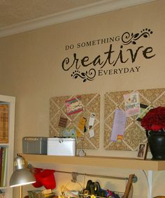 Do something creative everyday vinyl vinyl home create for Vinyl sayings for crafts