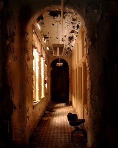 Don't Go Alone - Original Photograph 8x10 - Spooky Creepy Abandoned Hallway Door Passage Urban Exploration