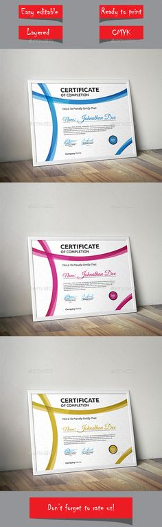 Certificate - Certificate Template Vector EPS. Download here: http://graphicriver.net/item/certificate/13853138?s_rank=106&ref=yinkira