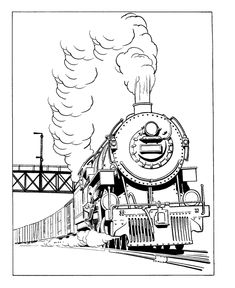 coloring pages of trains for kids
