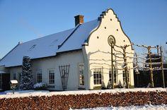 dutch farmhouse - front façade - possible idea for moldings.
