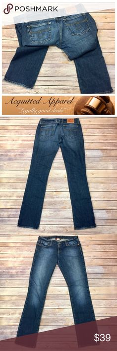 """(Lucky Brand) Lola Straight Jeans 34.5"""" inseam (Lucky Brand) Lola Straight Jeans 34.5"""" inseam   Beautiful Luck Brand Lola Straight Leg Jeans Size 8 or 29. Almost like new condition,with no real signs of wear. Beautiful style for the lucky brand lover.   -         99% Cotton 2% Spandex -         8"""" Rise -         34.5"""" Inseam -         Size 8 or 29 Lucky Brand Jeans Straight Leg"""