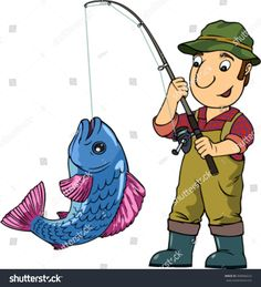 Find Cartoon Vector Colored Illustration Fisherman His stock images in HD and millions of other royalty-free stock photos, illustrations and vectors in the Shutterstock collection. Thousands of new, high-quality pictures added every day. Fishing Box, Fishing Girls, Fishing Humor, Pike Fishing, Women Fishing, Fishing In Canada, Face In Hole, Cartoon Pics, Cartoon Picture