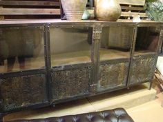 Reclaimed Wood And Metal Console Table Buffet Entertainment Tv Stand India