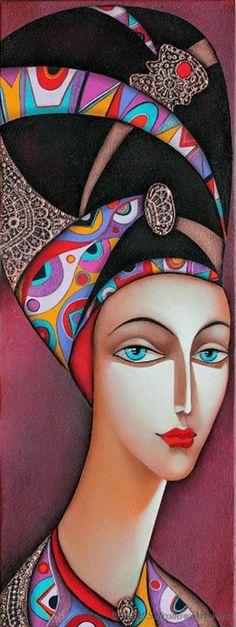 Melpomene by Wlad Safronow. (Oil Canvas)