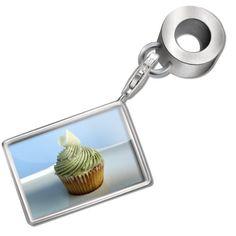 "Neonblond Bead/Charm ""Cupcake"" - Fits Pandora Bracelet NEONBLOND Beads,"