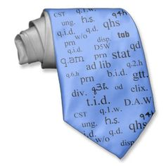 Pharmacist's Abbreviations Tie for Men
