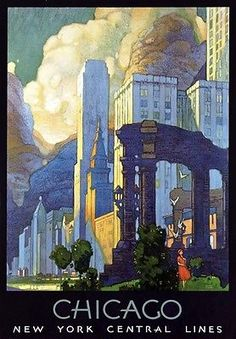 R9 Vintage New York Central US Railways American Travel Poster Re-Print A2/A3/A4