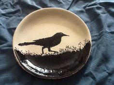 Crow platter with berries
