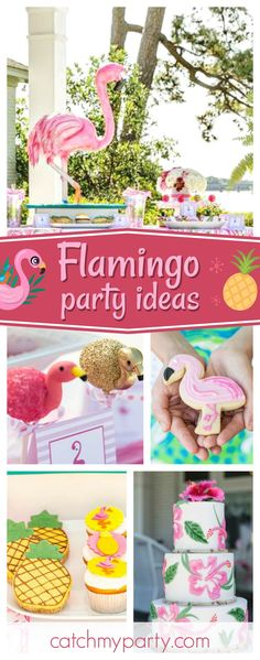Don't miss this exotic Flamingo birdal shower! The flamingo cakepops are incredible!!See more party ideas and share yours at CatchMyParty.com