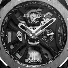 """Audemars Piguet Royal Oak Concept Laptimer Watch With Dual Seconds Chronograph - by David Bredan - see more & learn about its first-of-its-kind complication on aBlogtoWatch.com """"This is the Audemars Piguet Royal Oak Concept Laptimer, a brand new 'RO Concept' that I feel may very well be the most striking Royal Oak iteration since the Offshore Survivor. As its name suggests, this brand new, highly complicated movement was created to be able to measure and record a series of consecutive lap times. Such a watch was commissioned back in 2010 by Audemars Piguet ambassador and 7-time Formula 1 world champion, Michael Schumacher, and it took the manufacture almost five years to come up with a solution – and fit it into what else but the Concept case, dressed in forged carbon and titanium..."""""""