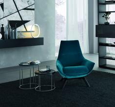 Upholstered velvet armchair with armrests ERMES Atelier Collection by MisuraEmme   design Mauro Lipparini