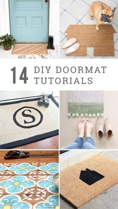 Refresh your front porch for each new season with these 14 DIY doormat ideas, whether you're starting from scratch or making over something old!