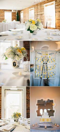 Elegant Contemporary Yellow and Gray Wedding