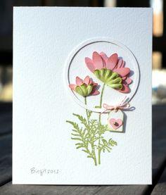 Circle frame around flowers...