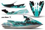 Sea Doo Bombardier GTS Sitdown Jet Ski Graphic Wrap Kit 1992-1997