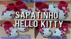 Sapatinho  de Croche Hello Kitty