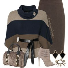 A fashion look from December 2013 featuring WalG sweaters, Planet skirts and Verali ankle booties. Browse and shop related looks. Classy Outfits, Chic Outfits, Fashion Outfits, Love Fashion, Plus Size Fashion, Womens Fashion, Fall Winter Outfits, Autumn Winter Fashion, Wal G