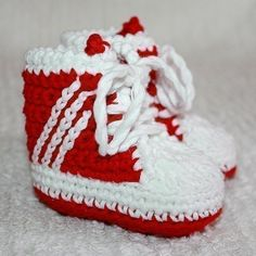 Instant download - Baby Booties Crochet PATTERN (pdf file) - Baby Sneakers (tennis shoes)