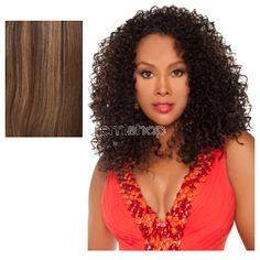Vivica Fox Express Wig Kara - Color P4/27/30 - Synthetic Half Wig