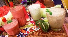 Licuado frutal mediterráneo, de melón con pepino y de té frío