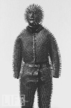 Russian bear hunting armor from the 19th century, yup, that'd just about do it